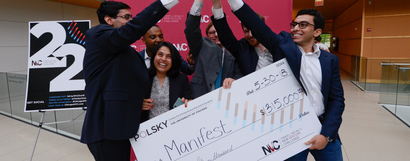 Manifest Wins First Place and $315,000 in the 2018 Edward L. Kaplan, '71, New Venture Challenge